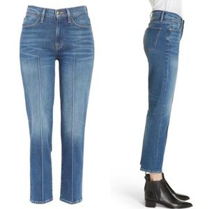 Frame Le High Pintucked Straight Ankle Jeans 31
